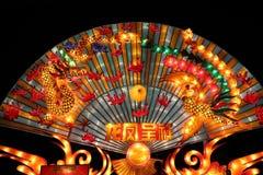 De gekleurde lantaarn toont Stock Fotografie