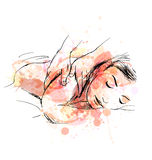De gekleurde massage van de handschets Royalty-vrije Stock Fotografie