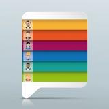 De gekleurde Mensen van de Toespraakbel 6 Opties Stock Afbeelding