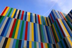 De gekleurde moderne bouw Royalty-vrije Stock Foto