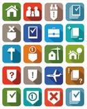De gekleurde pictogrammen juridische diensten Royalty-vrije Stock Foto
