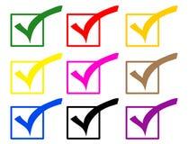 De gekleurde pictogrammen van de controle tik Royalty-vrije Stock Afbeelding