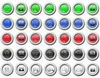 De gekleurde Pictogrammen Webpage van Bedrijfs van de Navigatie Royalty-vrije Stock Foto