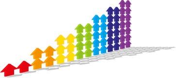 De gekleurde pijlen Royalty-vrije Stock Fotografie
