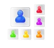 De gekleurde reeks van het mensenpictogram. Royalty-vrije Stock Afbeeldingen