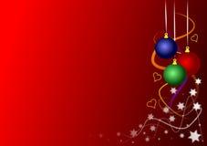 De gekleurde Snuisterijen van Kerstmis Stock Foto