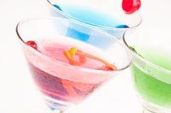 De gekoelde Cocktails van Martini dicht omhoog Stock Fotografie