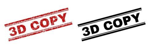 De gekraste Geweven en Schone 3D Drukken van de EXEMPLAARzegel Royalty-vrije Illustratie