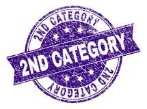 De gekraste Geweven 2ND Verbinding van de CATEGORIEzegel royalty-vrije illustratie