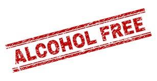 De gekraste Geweven Verbinding van de ALCOHOL VRIJE Zegel vector illustratie