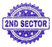 De gekraste 2ND Verbinding van de SECTORzegel royalty-vrije illustratie