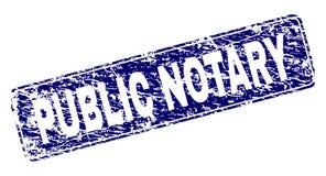 De gekraste OPENBARE Zegel van NOTARISframed rounded rectangle royalty-vrije illustratie