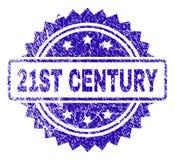 De gekraste Verbinding van de de 21ST EEUWzegel royalty-vrije illustratie