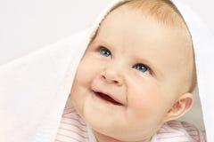 De gekregen blauwe ogen van de baby royalty-vrije stock afbeelding