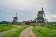 De Gekroonde Poelenburg, De Kat, mulino a vento di Windmill De Zoeker e immagine stock libera da diritti