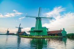 De Gekroonde Poelenburg, De Kat, mulino a vento di Windmill De Zoeker e fotografia stock libera da diritti