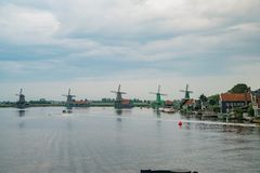 De Gekroonde Poelenburg, De Kat, Windmill De Zoeker, Houtzaagmol fotografia stock