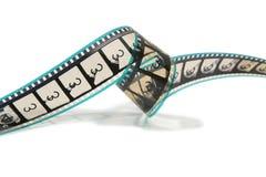 De gekrulde Strook van de Film van de Film Stock Foto