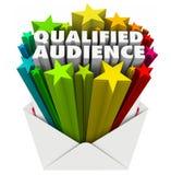 De gekwalificeerde Envelop direct-marketing Gerichte Cust van Publiekswoorden vector illustratie
