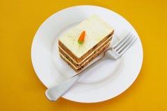 De gelaagde Cake van de Wortel Royalty-vrije Stock Afbeeldingen