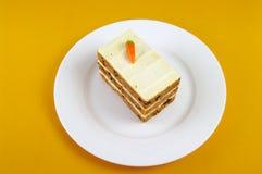 De gelaagde Cake van de Wortel Royalty-vrije Stock Afbeelding
