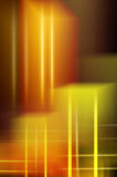 De gele Abstracte Achtergrond van Lichten stock foto
