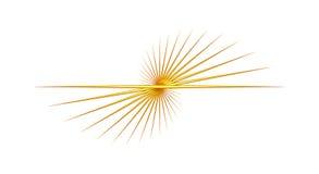 De gele Abstracte Draai van de Lijn Royalty-vrije Stock Foto's