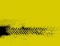 De gele achtergrond van het bandspoor Stock Afbeelding
