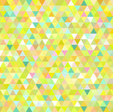 De gele achtergrond van het driehoekspatroon Stock Afbeelding