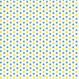 De gele Achtergrond van de het Patroonstof van David Stars Triangle Abstract Geometric Eenvoudige Stock Afbeeldingen