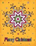 De gele achtergrond van Kerstmis Stock Foto