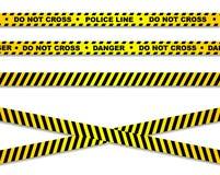 De gele band van de misdaadscène royalty-vrije illustratie