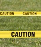 De gele band van de voorzichtigheid Stock Afbeelding