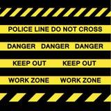 De gele Banden van de Voorzichtigheid vector illustratie