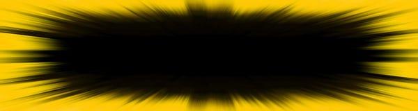 De gele banner van de starburstexplosie stock foto