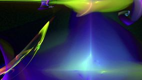 De gele blauwe achtergrond van de patroon abstracte motie vector illustratie