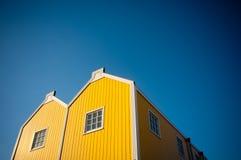 De gele bouw Stock Foto
