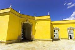 De gele Bouw in Ocotlan DE Morales dichtbij Oaxaca, Mexico royalty-vrije stock afbeelding