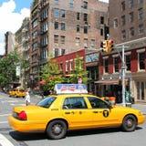 De gele cabine van NYC Royalty-vrije Stock Afbeelding