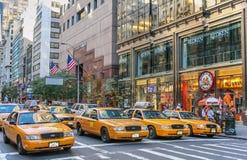 De Gele Cabines van New York Royalty-vrije Stock Afbeeldingen