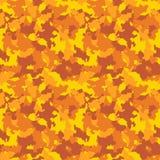 De gele en oranje camouflage van het de herfstufo Stock Foto's