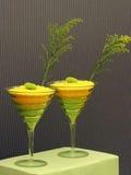 De gele en Originele Cocktails van de Kalk Royalty-vrije Stock Afbeeldingen