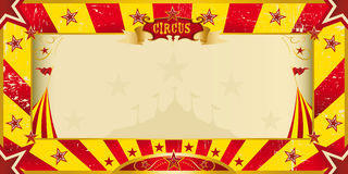 De gele en rode uitnodiging van het grungecircus Stock Foto