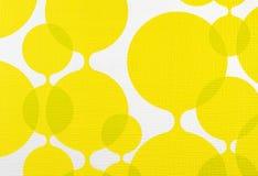 De gele en witte achtergrond van de stoffentextuur, doekpatroon Royalty-vrije Stock Foto's