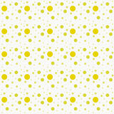 De gele en Witte Polka Dot Abstract Design Tile Pattern herhaalt Royalty-vrije Stock Fotografie