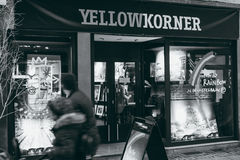 De gele fotografische opslag van Korner in Frankrijk, Straatsburg royalty-vrije stock fotografie