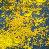 De gele geschilderde textuur van de cementvloer Stock Foto's