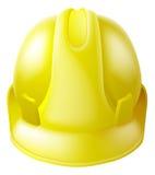 De gele Helm van de Bouwvakkerveiligheid Stock Foto