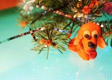 De gele hond is plasticine Royalty-vrije Stock Foto