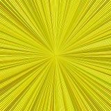 De gele hypnotic abstracte ster barstte streepachtergrond stock illustratie